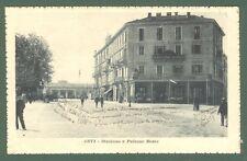 Piemonte. ASTI. Stazione e Palazzo Bosia. Cartolina d'epoca viaggiata nel 1918.