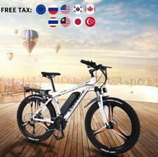 Merax 26in Dual Disc Brakes 21 Speed Hardtail Electric Mountain Bike - Black