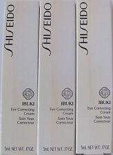 Shiseido IBUKI EYE CORRECTING Cream 5MLX3PCS 15 ML PROBEN SAMPLES
