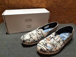 Toms x Star Wars weiß - Damen Espadrilles Schuhe Gr. 38,5