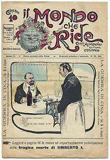 SATIRA-UMORISMO_Il Mondo che Ride - Anno I - N.33_Ed. Aliprandi, 1900* vedi >>>