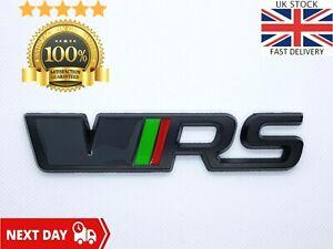 VRS Rear Boot Black Badge Tailgate Emblem Sticker Skoda Octavia Fabia Superb