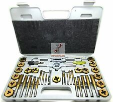 40 Pc Titanium Tap And Die Tool Set METRIC Fine Standard