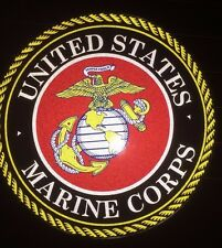 "TWO 4"" US MARINES Reflective Sticker Decals"