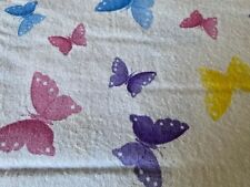 Flannel Fabric - Multi-color Butterflies     Priced by the 1/2 yd