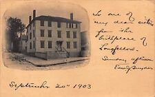ME- 1903 Henry Wadsworth Longfellow Birthplace in Portland, Maine - Early Card
