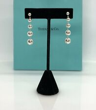 Tiffany & Co. Sterling silver Graduated Bead ball Dangle Earrings TC155