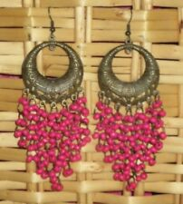 Earrings Fashion Dangle Drop Bohemian Round Pink