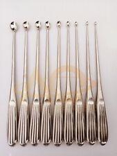 Volkmann Bone Curette Set Of 9 Pieces Orthopedic Surgical Instruments