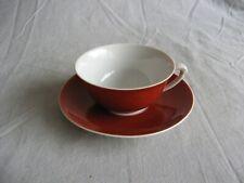 Très jolie tasse thé ancienne porcelaine de Limoges GDA couleur rouge pourpre