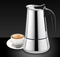 Stainless Steel Wide Bottom Home Coffee Pot Moka Espresso  Stove with Percolator