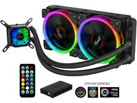 Rosewill RGB AIO 240mm CPU Liquid Cooler, Closed Loop PC Water Cooling