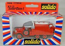 "Solido France #2123 ""Tropez"" Fire Tanker Dodge 6x6 T223 WC63 1975 4 7/8"" Long MB"
