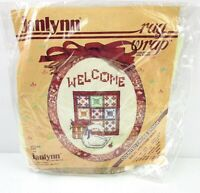NEW Vtg Janlynn Cross Stitch Kit Rag Wrap 1987 Welcome Quilt  6A
