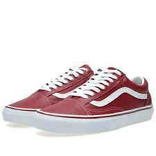 """Vans """"Style 36"""" Old Skool Leather Shoes (uk11) Red🔥New🔥"""