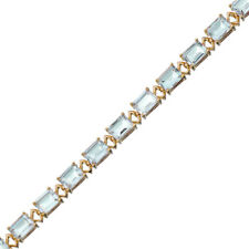 Yellow Gold Plated  Green Amethyst Bracelet (15 CT)
