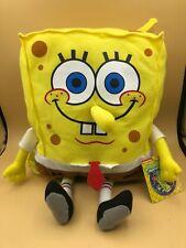 Spongebob Squarepants Nickelodeon Backpack Bag Plush Kids Soft Stuffed Toy Pins