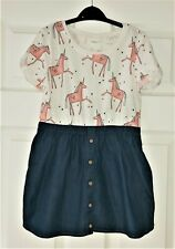 VGC Girls NEXT unicorn print dress size 5-6 Years