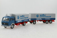A.S.S WIKING ALT LKW MB 1632 Pritschen Fern Lastzug Ertl Ertex 1984 GK 455/4 HBL