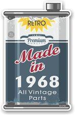 Lata de metal envejecido Lata de Aceite hechos en 1968 Retro Novedad Pegatina de Coche Moto Ratlook