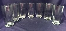 Set of 7 Anchor Hocking Glasses Sure Guard USA Tumbler 8 oz. Water Cocktail