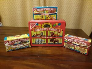 Barnum's Animal Crackers Tin Container W/ 3 Boxes Limited Edition 1989
