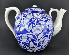 Russian Dulevo factory  (ДУЛЕВО) Blue and white Teapot  Circa 1930'BI#MK/181130)