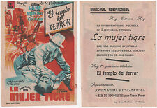 Programme Espagnol SHERIFF OF SUNDOWN Allan Lane LINDA STIRLINE Western 1944