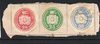 Switzerland 3 Early Stamps Used on Piece (fault on red stamp) (3214)