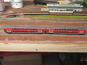 Fleischmann Spur N 931897 Set Personenzug Doppelstockwagen neuwertig,ohne OVP