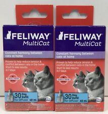 (New) Ceva Animal Health Feliway MultiCat 30 Day Refill Diffuser, 48ml Pack of 2