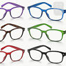 New Rimmed READING GLASSES Readers & POUCH - Black, Blue, Red +1.0+1.5+2+2.5+3.0