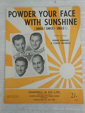 Sheet Music - Powder Your Face With Sunshine - The Four Guardsmen 1948