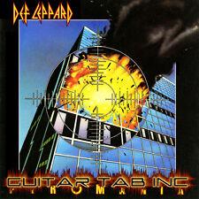 Def Leppard Guitar Tab PYROMANIA Lessons on Disc