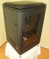 """19"""" 16U Server Cabinet Rack, Armadietto Acciaio con ventilatore Cremagliera nero"""