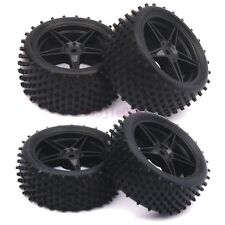 RC 1/10 Off-Road Car Buggy Front & Rear Tyre Tires Wheel Rim Black 66010-66030