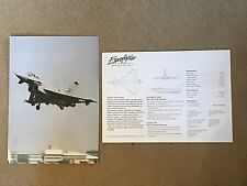 EUROFIGHTER 2000 PRINT PHOTO with GENERAL DESCRIPTION and KEY FACTS (A PAIR) 1