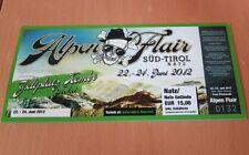 Frei.Wild Alpen Flair Festival 2012 Kombiticket WIENEU