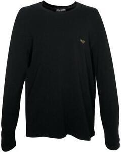Emporio  Armani Emporio Armani Gold Eagle Logo Tee Shirt Black