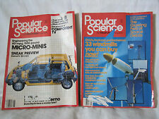 Vintage Popular Science Magazine Issues - Lot of 3 - June, July, September 1982