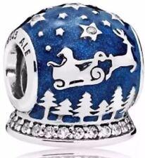 WINTER 2017 Authentic Pandora Charm Global Snow Christmas Night Bead 796386EN63