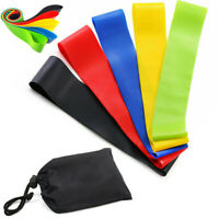 Resistance Bands Loop Exercise Sports Fitness Home Gym Yoga Latex 5pcs Set