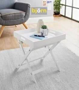 Bjorn Folding Tray Table White Easily Convert From Coffee Table To Lap Tray