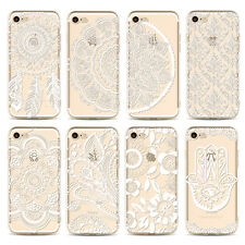Clear Embossed Pattern Shockproof PC Hard Case Cover For Apple iPhone 6s 7 Plus