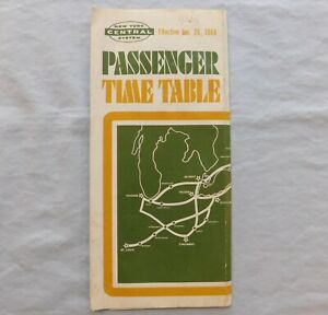 New York Central System Passenger Time Table - Effective Jan. 26, 1968
