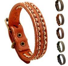 MEN/ Women Vintage Weave Rope Genuine Leather Wristband/ Leather Bracelet