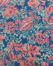 "Lilly Pulitzer - Cotton Poplin Fabric Bay Blue Pop Pop 180"" X 57"""