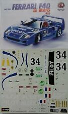 BURAGO 1:18  KIT IN METALLO AUTO FERRARI F40 LE MANS 1995 MADE IN ITALY ART 7042