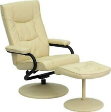Recliner Chair Leather Reclining Swivel Small Stressless Ottoman Set Cushioned