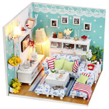 Dollhouse miniature kit -BUTTERLY'S LOVE, (M002), living room  w/Light & Cover